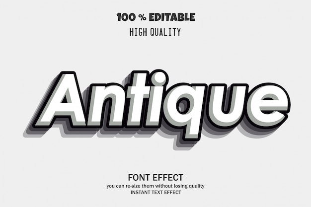 Antique text style