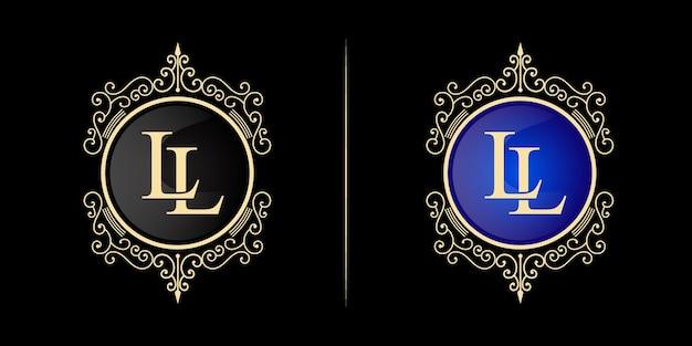 Antique vintage retro luxury heraldic victorian calligraphic logo with ornamental frame