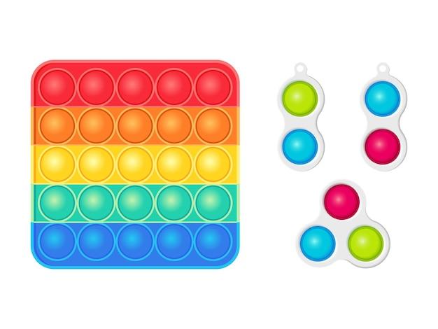 Антистрессовые игрушки непоседа сенсорная поп и простая ямочка
