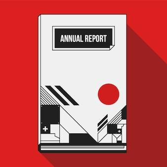 Anual report cover geometric design