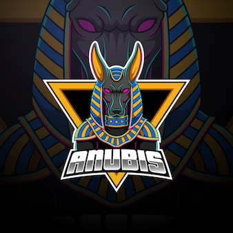 Anubis esport талисман дизайн логотипа