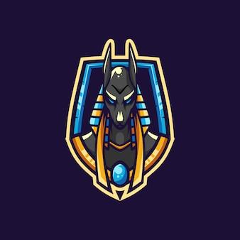 Удивительный логотип anubis esport