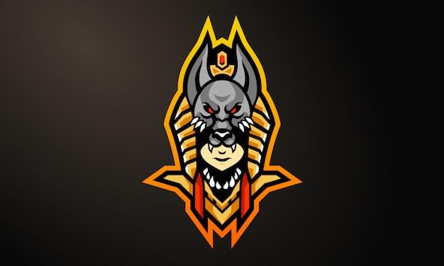 Anubis esports талисман логотип дизайн-01