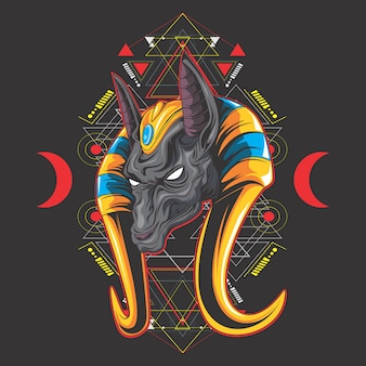 Anubis and geometry