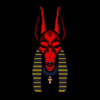 Anubis head illustration