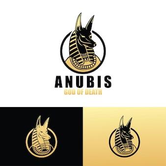 Шаблон логотипа анубис