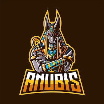 Anubis mascot logo for esport and sport