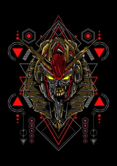 Anubis mecha sacred geometry