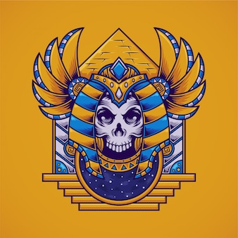 Anubis skull illustration