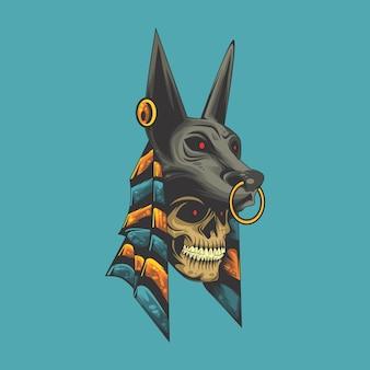 Anubis skull