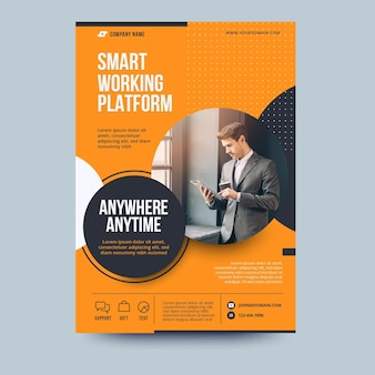Anywhere anytime business flyer template