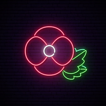 Anzac day neon signboard.