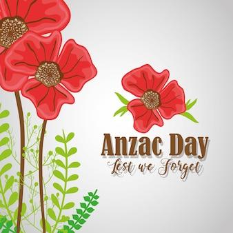 Анзакский день с цветами, чтобы вспомнить войну