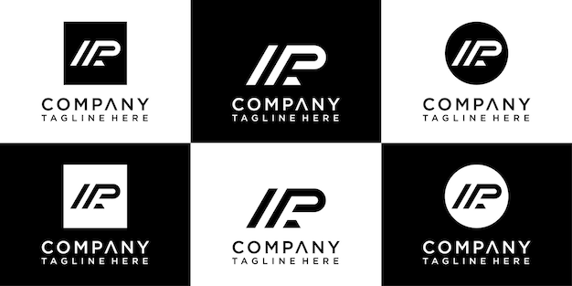 Ap letters monogram logo design