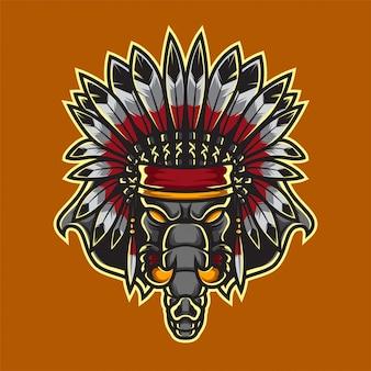 Apache elephant sport logo