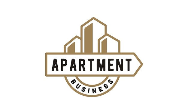 Apartment building business logo design
