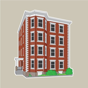 Apartment building illustration