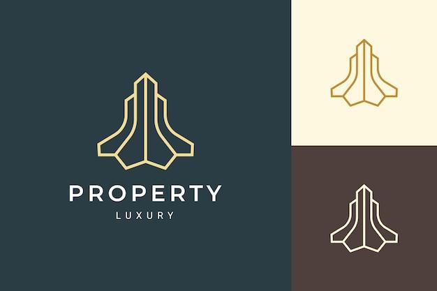 심플하고 깔끔한 형태의 아파트 또는 리조트 로고