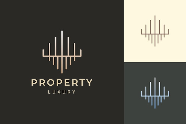 Apartment or property logo in luxury and futuristic shape