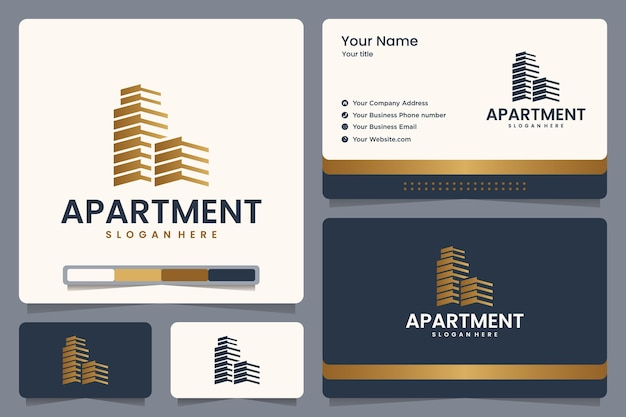 Apartment ,real estate, logo design and business card
