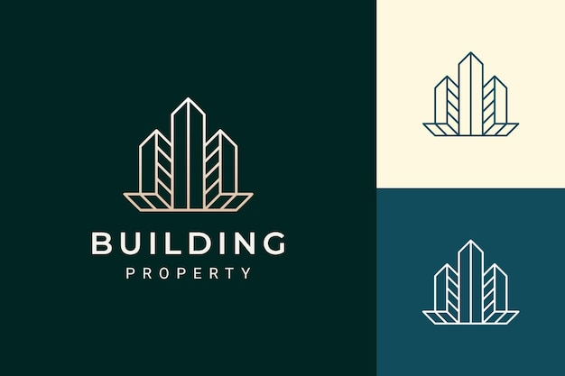Apartment or real estate logo in luxury and futuristic shape