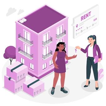 アパートの家賃の概念図 無料ベクター