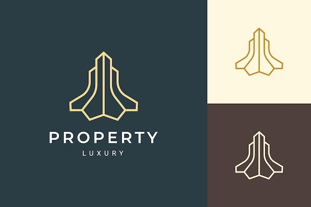 Apartment or resort logo in simple and clean shape