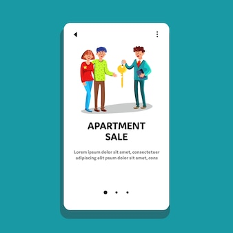 Apartment sale in real estate agency office