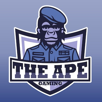 The ape gaming, e sport  logo