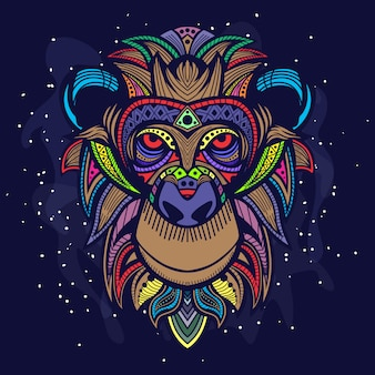 Ape head art