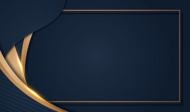Aper는 3d 추상 스타일의 어두운 금속 질감으로 럭셔리 골드 배경을 잘라