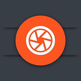 Aperture icon, photography pictogram