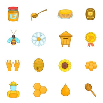 Apiary icons set