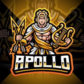 Apollo esport mascot logo design Premium Vector