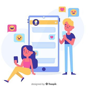 App for dating concept illustrated