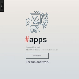 App development block website template