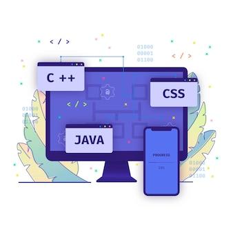 App development concept illustration