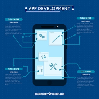 App development concept with modern style