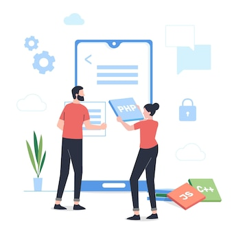 App development illustration
