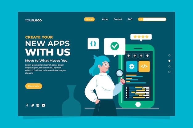App development landing page