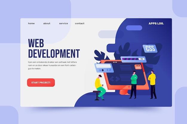App development - landing page