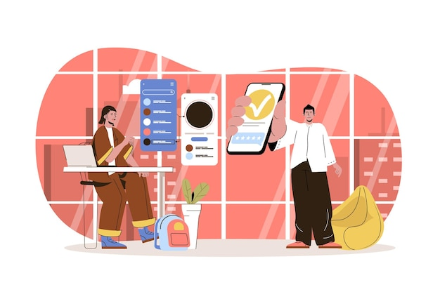 앱 개발 웹 개념 개발팀 인터페이스 생성 및 최적화