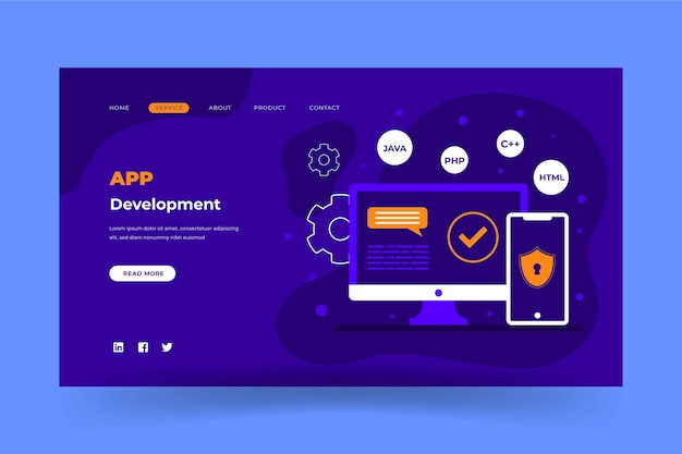 App development web page
