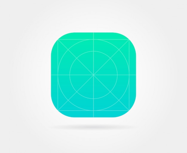 App icon template with guidelines