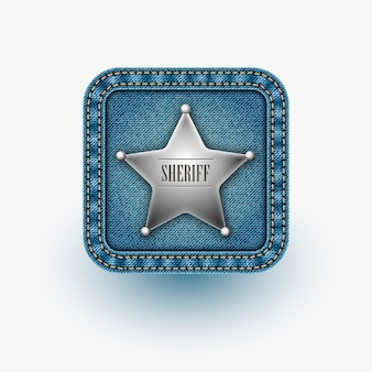 App icon with sheriff's star