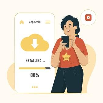 アプリのインストールの概念図