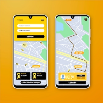 App interface for taxi