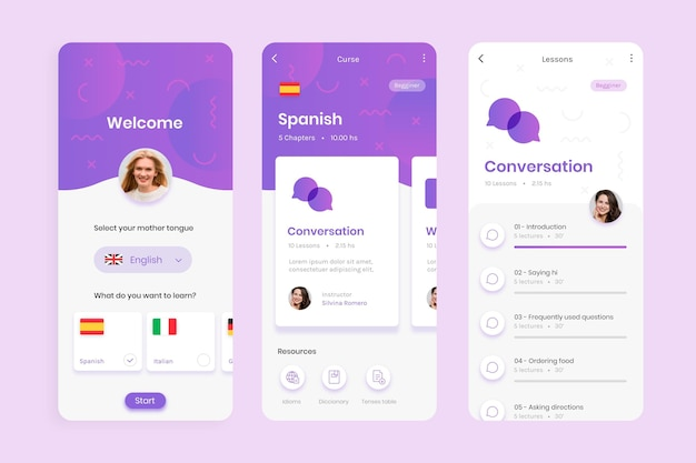 App to learn languages