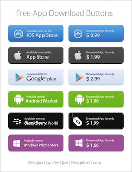 App market download buttons