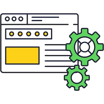 App or program setting function icon vector
